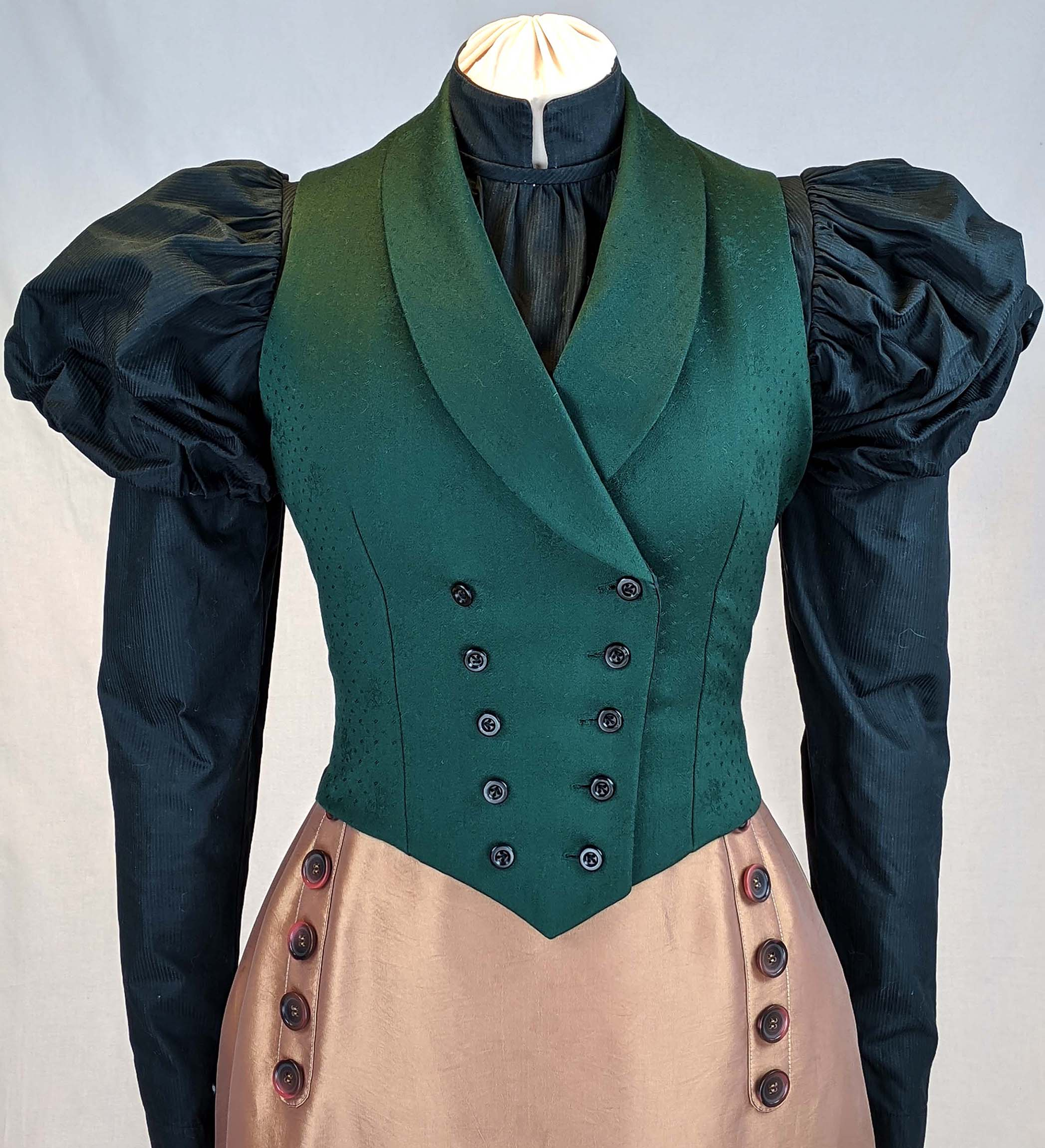 Ladies Vest circa 1890 with two front options Sewing Pattern #0220 Size US 8-30 (EU 34-56)